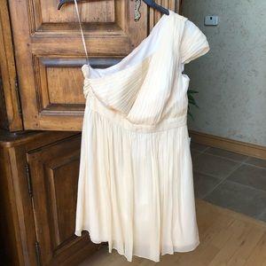 J Crew new champagne cream silk Grecian dress